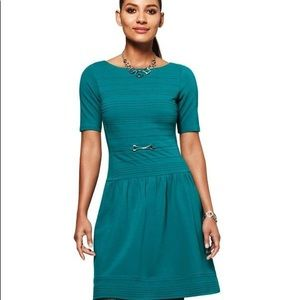 White House Black Market Turquoise Green Dress